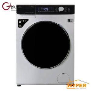 ماشین لباسشویی جی پلاس GWM-K1048S نقره ی 10.5 کیلویی