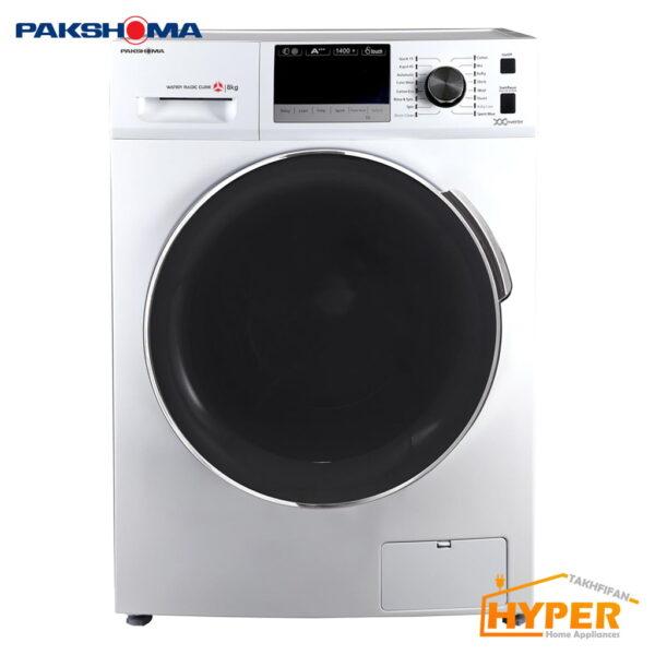 ماشین لباسشویی پاکشوما TFI-83403 WT سفید 8 کیلویی