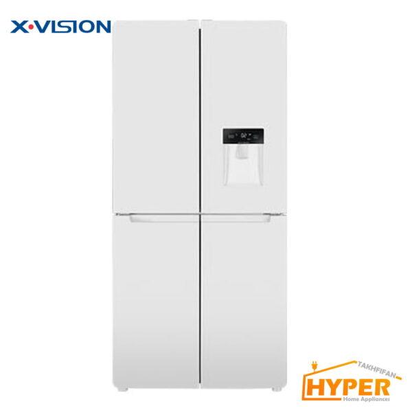 یخچال فریزر ساید بای ساید ایکس ویژن 4 درب XTR-486W سفید