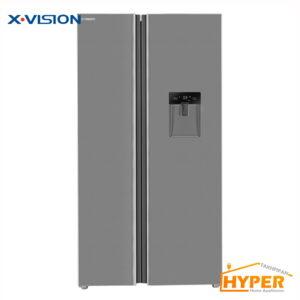 یخچال فریزر ساید بای ساید ایکس ویژن TS665 ASD