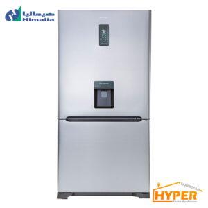 یخچال فریزر امگا پلاس هیمالیا HRFN60501 S آبریزدار سیلور